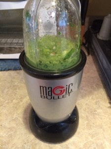 basil pesto blended