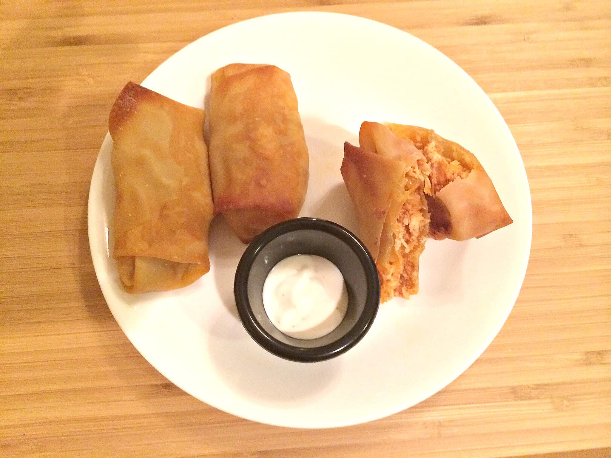 Spicy Buffalo Chicken Egg Rolls