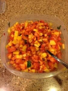 fruit bruschetta container