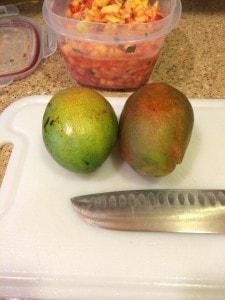 fruit bruschetta mangoes
