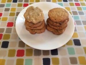 greek yogurt cookies plate