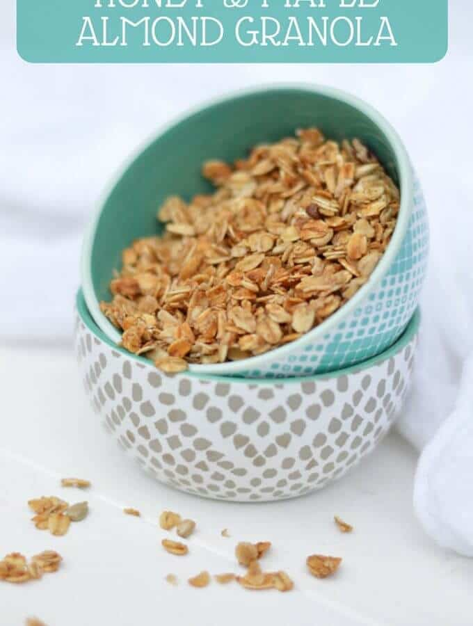Honey and Maple Almond Granola