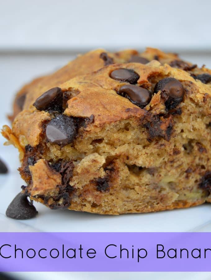 Healthy Chocolate Chip Banana Bread