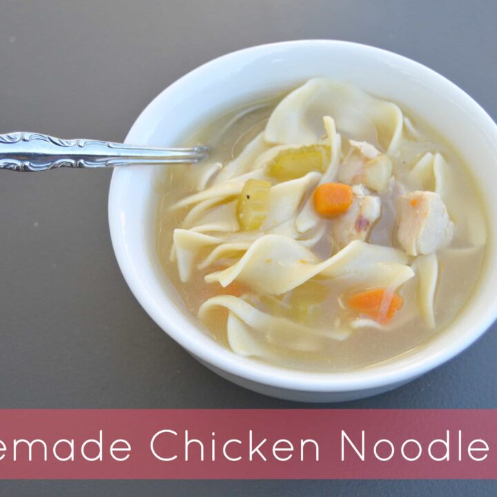 Homemade Hearty Chicken Noodle Soup