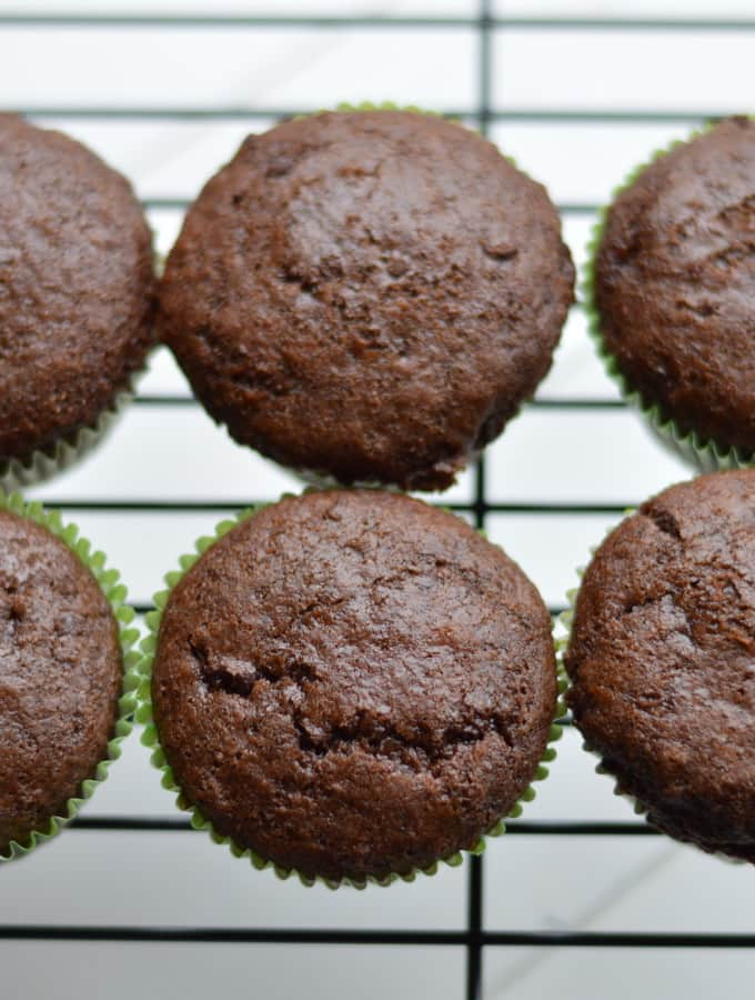 Lightened Up Double Chocolate Muffins