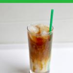 Starbucks Copycat Iced Caramel Macchiato in glass