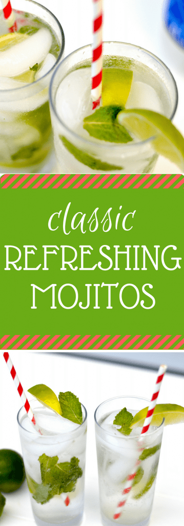A mojito is the perfect marriage of mint and lime flavors, lightly sweetened with sugar and made super crisp and bubbly with the addition of club soda. The perfect drink for summer!