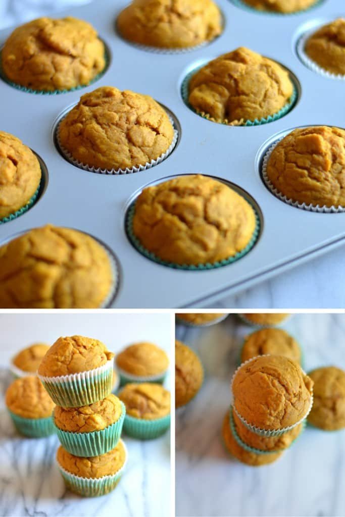 This recipe makes pumpkin muffins that are slightly sweet, perfectly spiced, and speckled with chocolate chips. Chocolate makes everything better.