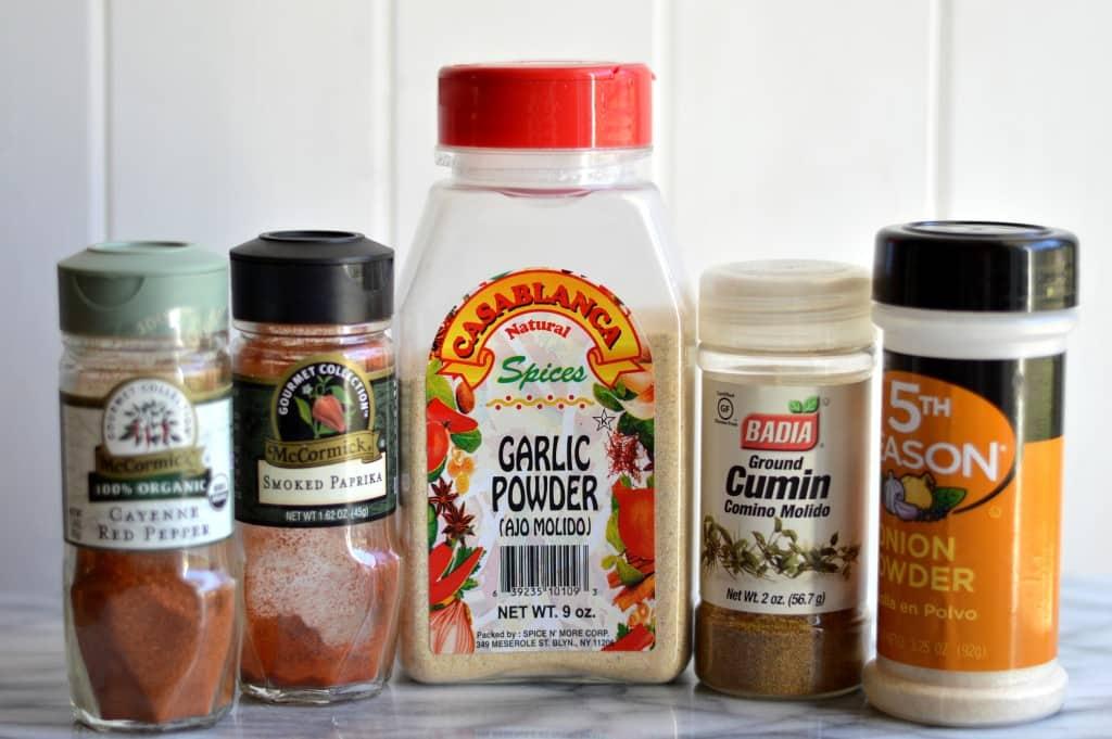 Healthier Turkey Nachos spices