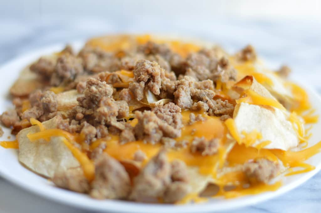 Healthier Turkey Nachos melted