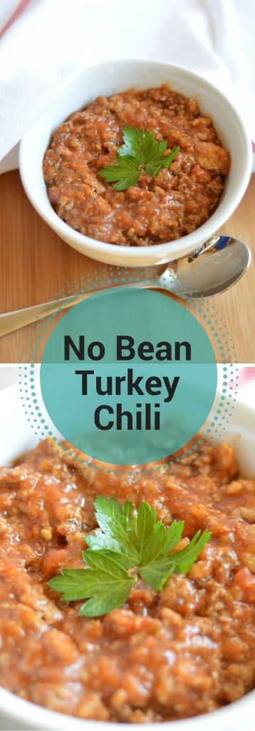 A big warm bowl of this no-bean turkey chili will warm your soul on even the coldest of days. If you like beans, feel free to add them to this stellar chili recipe!