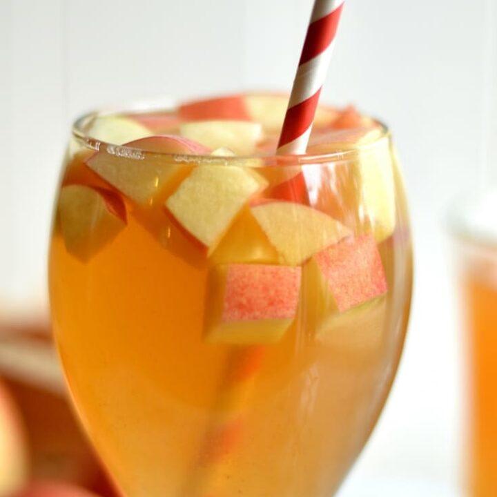 One Glass Apple Cider Sangria
