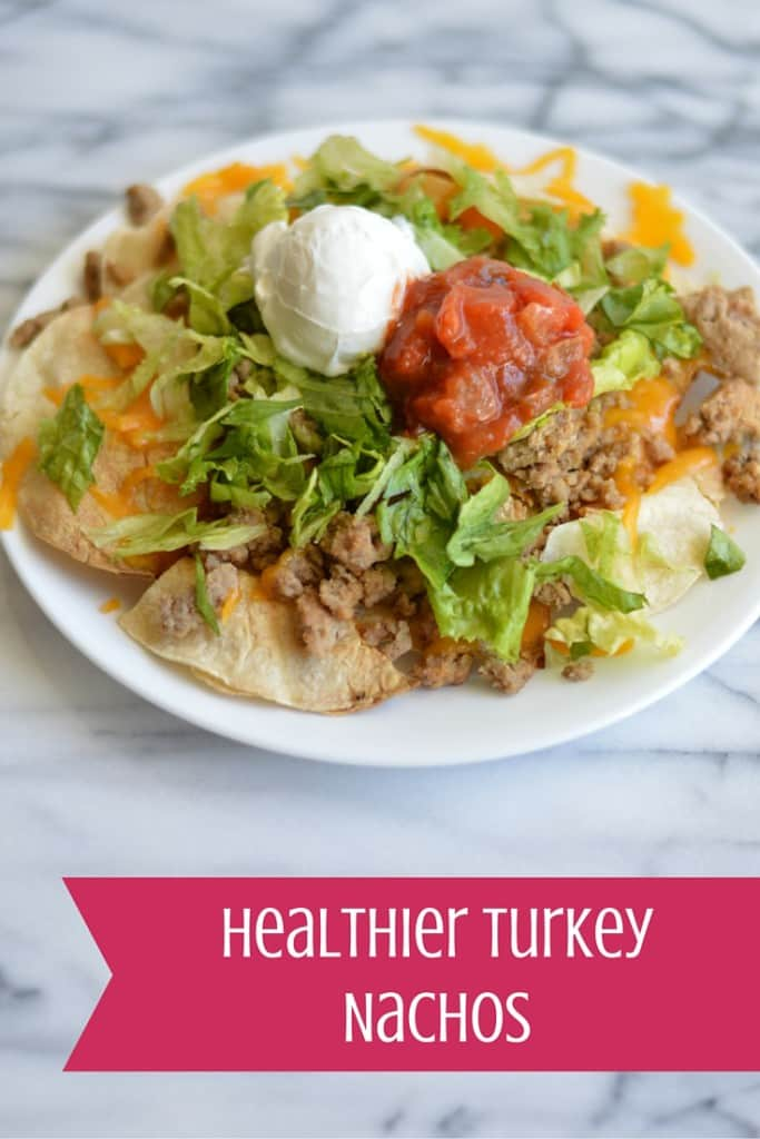 Healthier Turkey Nachos are the perfect pub-style food to make healthier at home!