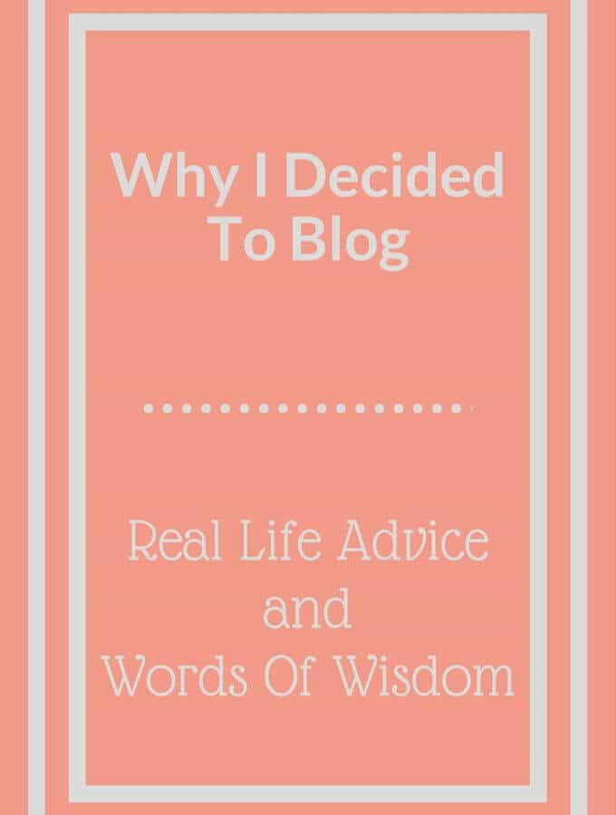 Why I Decided to Blog