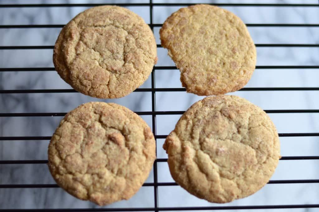 snickerdoodle cookies drying