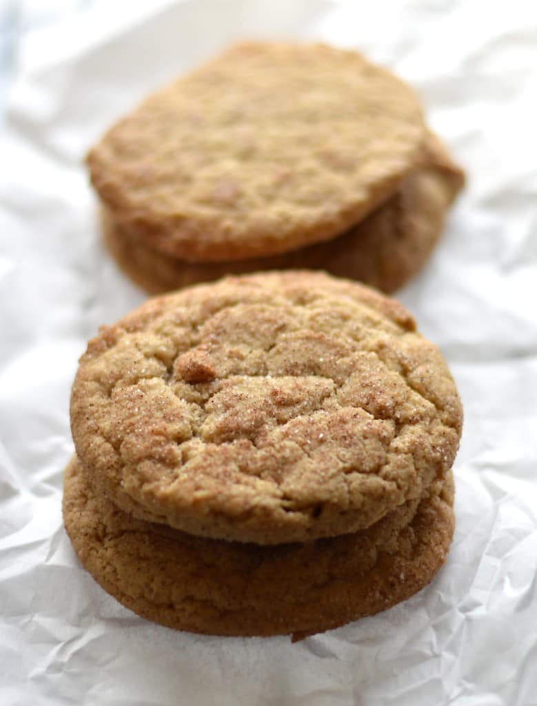 snickerdoodle cookies parchment