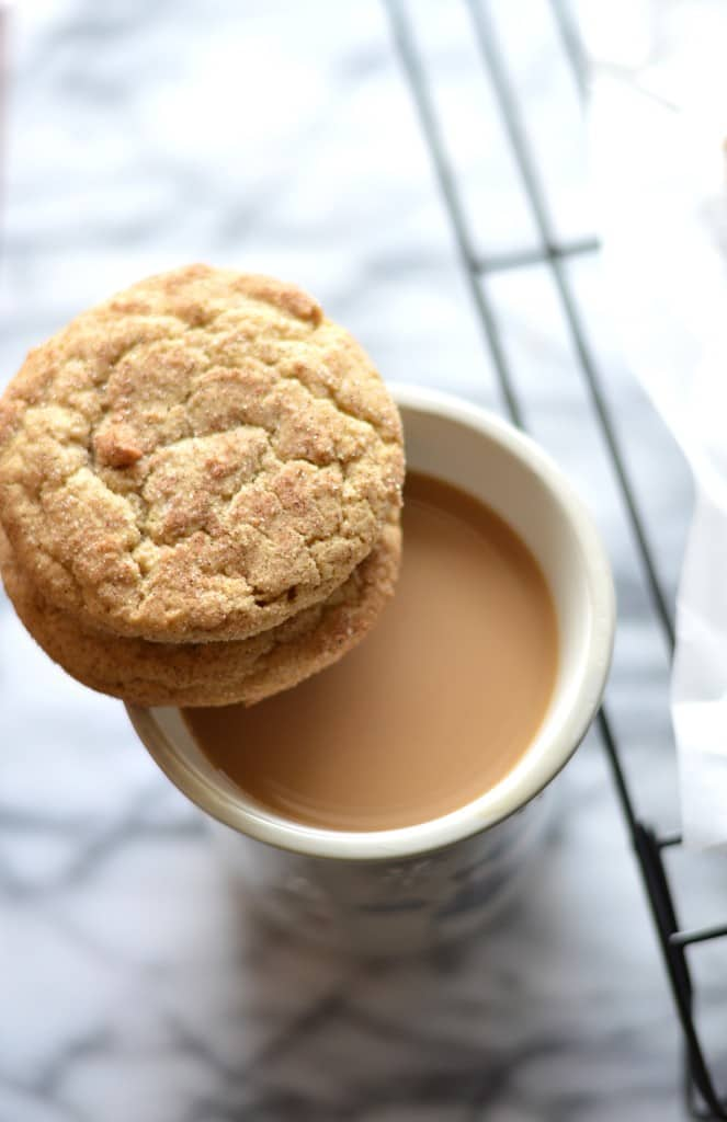 Pillowy soft White Chocolate Snickerdoodle Cookies are sure to be a new holiday favorite!