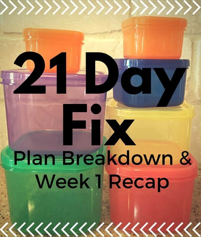 The 21 Day Fix Breakdown and Week 1 Recap