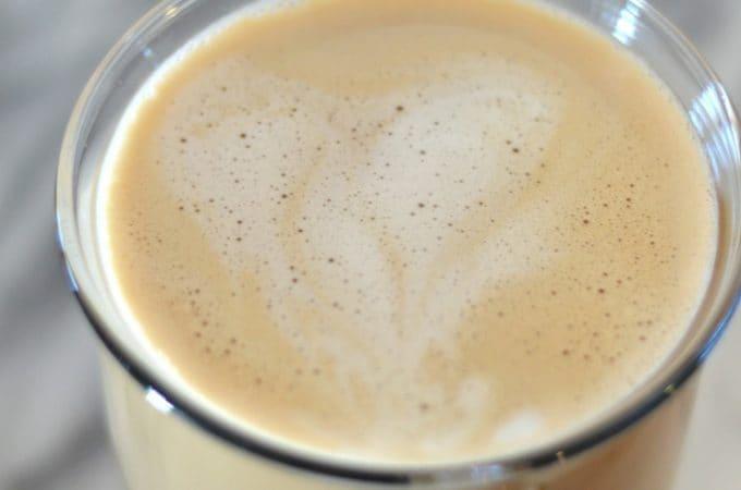 Caramel Latte no espresso machine