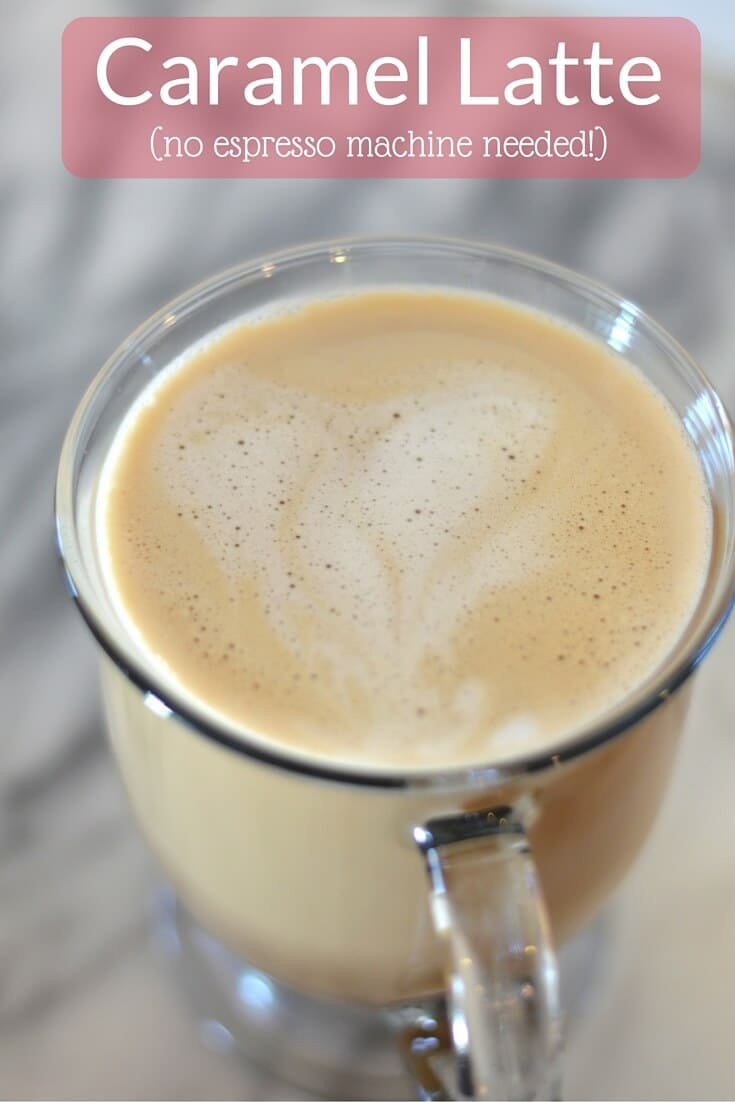 how to make a caramel latte without an espresso machine