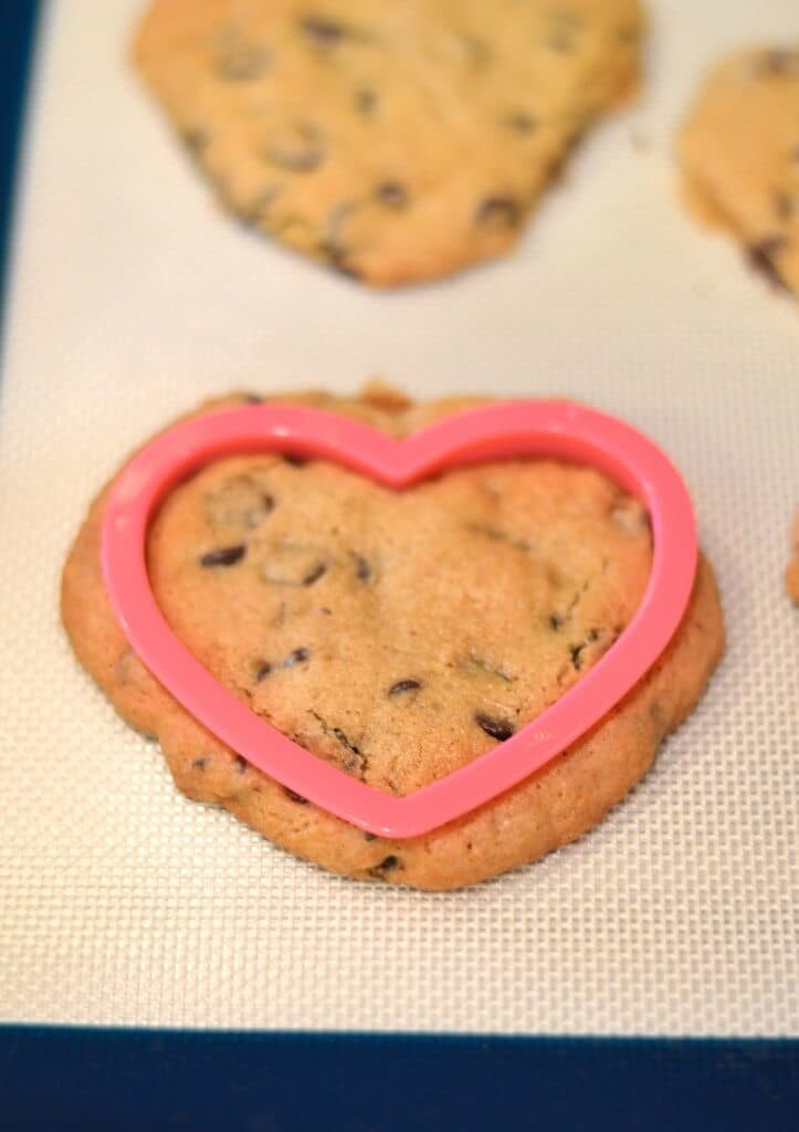 valentine's day cookies cutout