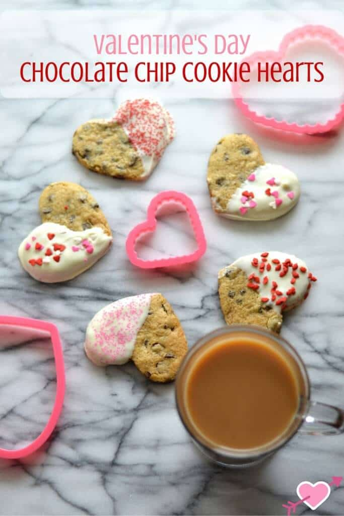 Valentine's DayChocolate Chip Cookie Hearts