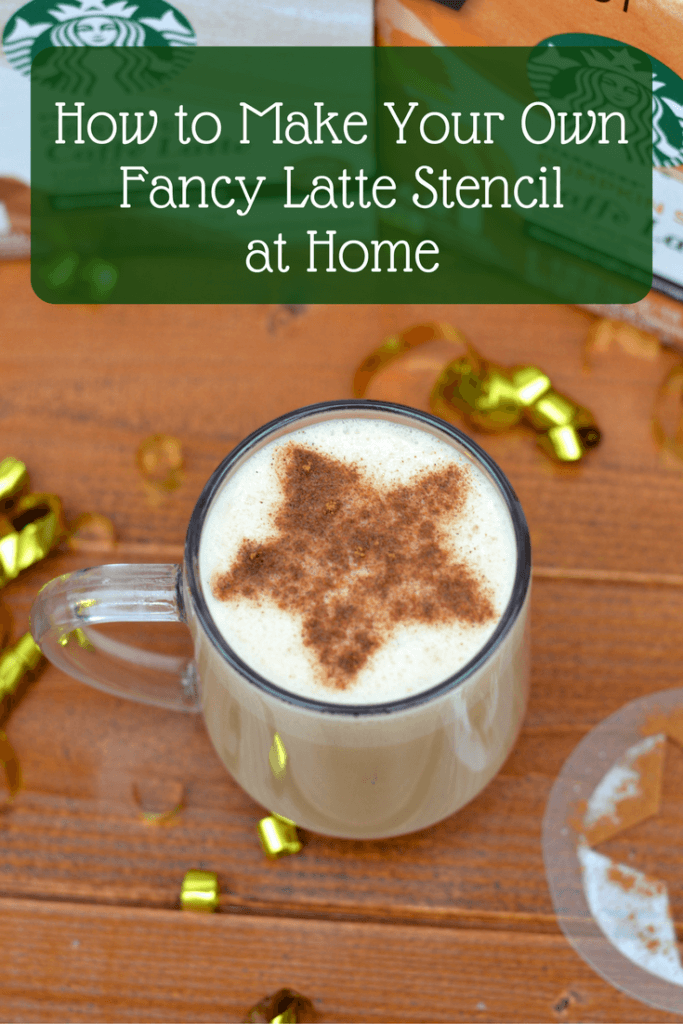 how to make your own fancy latte stencil at home