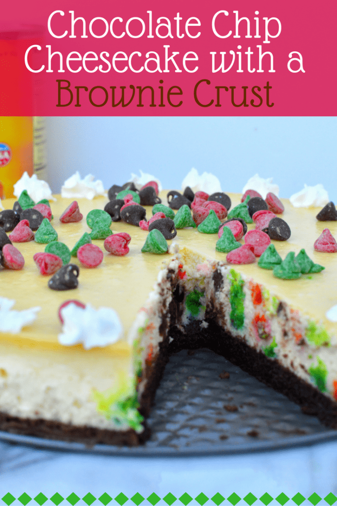 This Chocolate Chip Cheesecake with a Brownie Crust takes a little bit of patience and easily turns into a wonderfully impressive dessert that will have your friends and family begging you for the recipe.