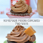 These homemade mocha cupcakes are homemade from cake to frosting. The mocha buttercream is incredible!