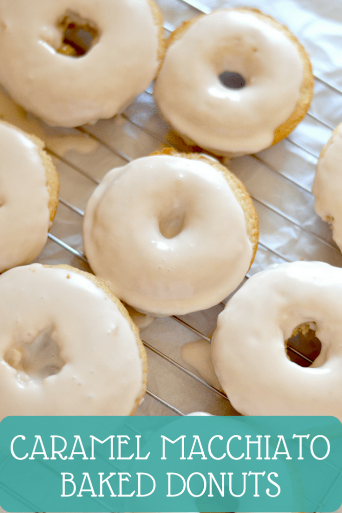 Caramel Macchiato Baked Donuts are made with a secret ingredient in the batter and icing that really rev up the flavor in these donuts!