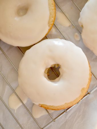 Caramel Macchiato Baked Donuts are perfect with a piping hot cup of coffee!
