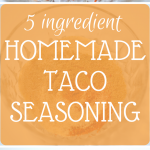 This 5 Ingredient Homemade Taco Seasoning is perfect to replace that store bought stuff. No funky ingredients that you can't pronounce - just perfectly blended spices!