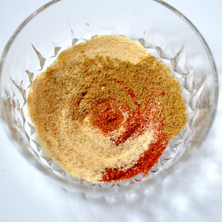 This 5 Ingredient Homemade Taco Seasoning is perfect to replace that store bought stuff. No funky ingredients, just perfectly blended spices!