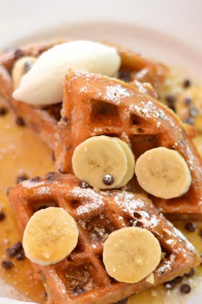 Chocolate Chip Banana Waffles from Brasserie Beck in Washington, D.C.