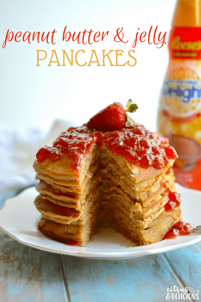 Peanut butter and jelly pancakes citrus delicious celebrate a childhood classic by dressing up your pbj for breakfast peanut butter and jelly ccuart Images