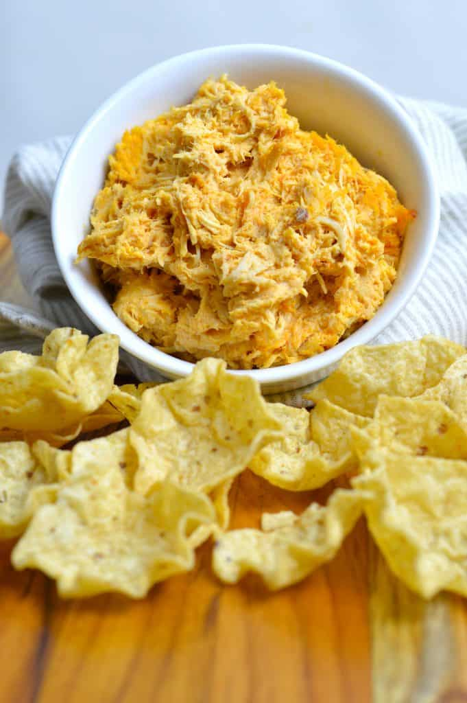 Spicy Slow Cooker Buffalo Chicken Dip - made entirely in the slow cooker!