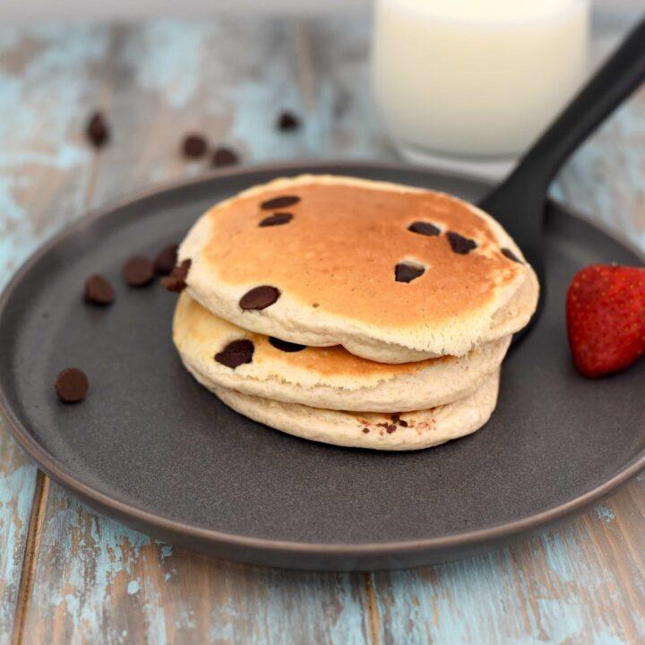 Chocolate Chip Protein Pancakes