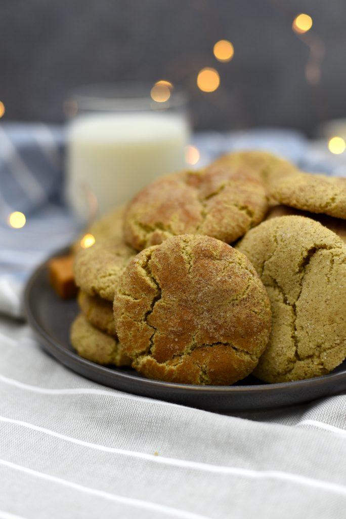Pillowy soft Caramel Snickerdoodles
